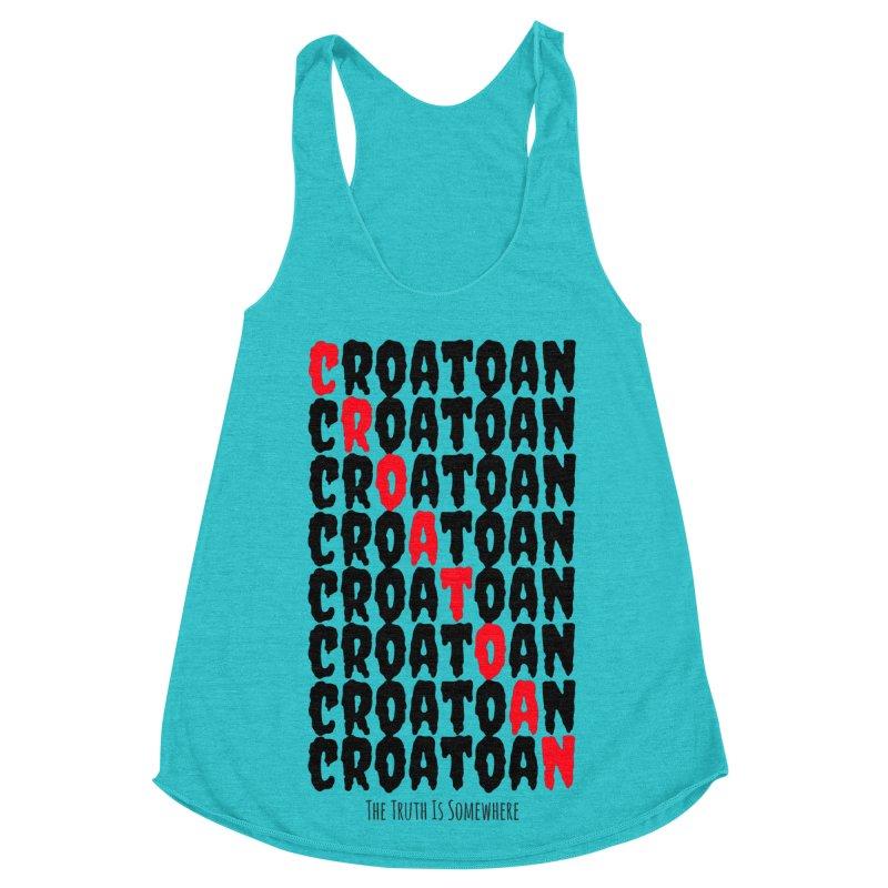 Croatoan Light Women's Racerback Triblend Tank by The Truth Is Somewhere