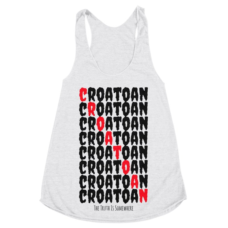 Croatoan Light Women's Racerback Triblend Tank by The Truth Is Somewhere