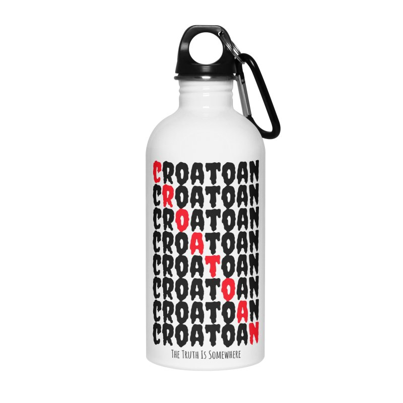 Croatoan Light Accessories Water Bottle by The Truth Is Somewhere