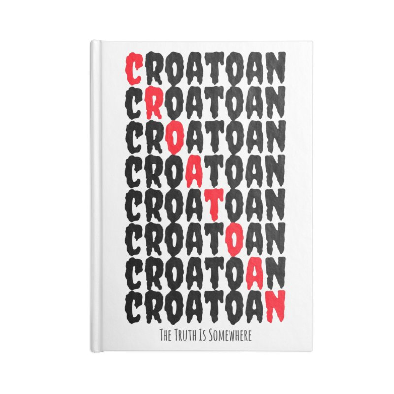 Croatoan Light Accessories Lined Journal Notebook by The Truth Is Somewhere