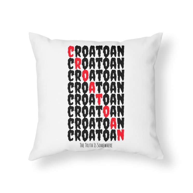 Croatoan Light Home Throw Pillow by The Truth Is Somewhere
