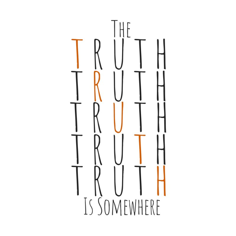 The Truth (Light Background) Men's V-Neck by The Truth Is Somewhere