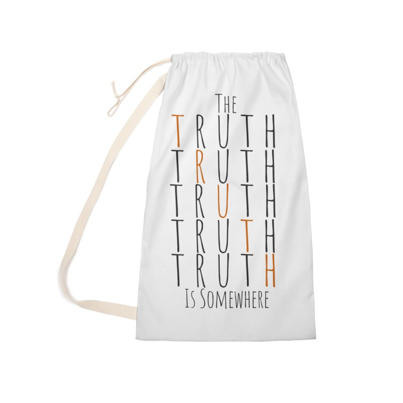 The Truth (Light Background) Accessories Bag by The Truth Is Somewhere