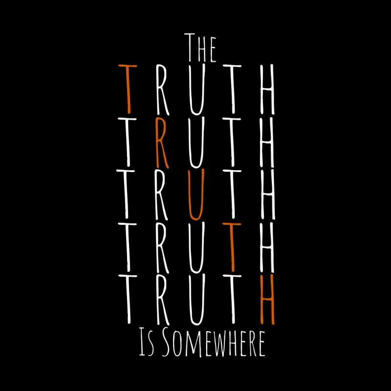 The Truth (Dark Background) Men's Zip-Up Hoody by The Truth Is Somewhere