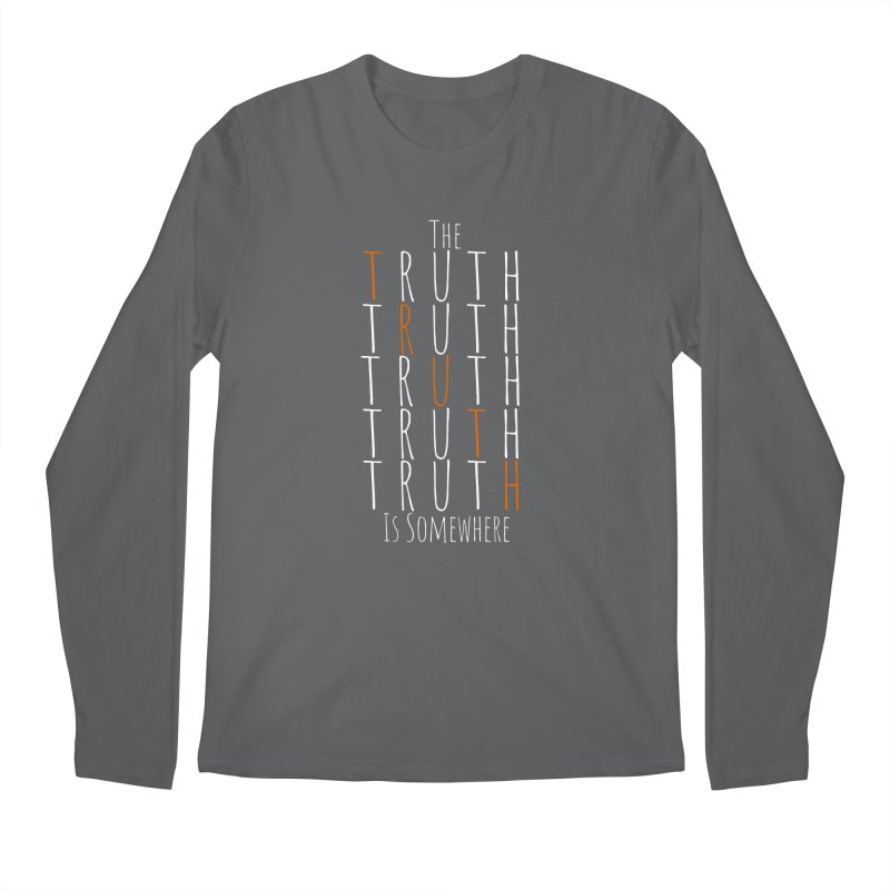 The Truth (Dark Background) Men's Regular Longsleeve T-Shirt by The Truth Is Somewhere