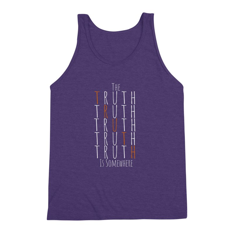 The Truth (Dark Background) Men's Triblend Tank by The Truth Is Somewhere