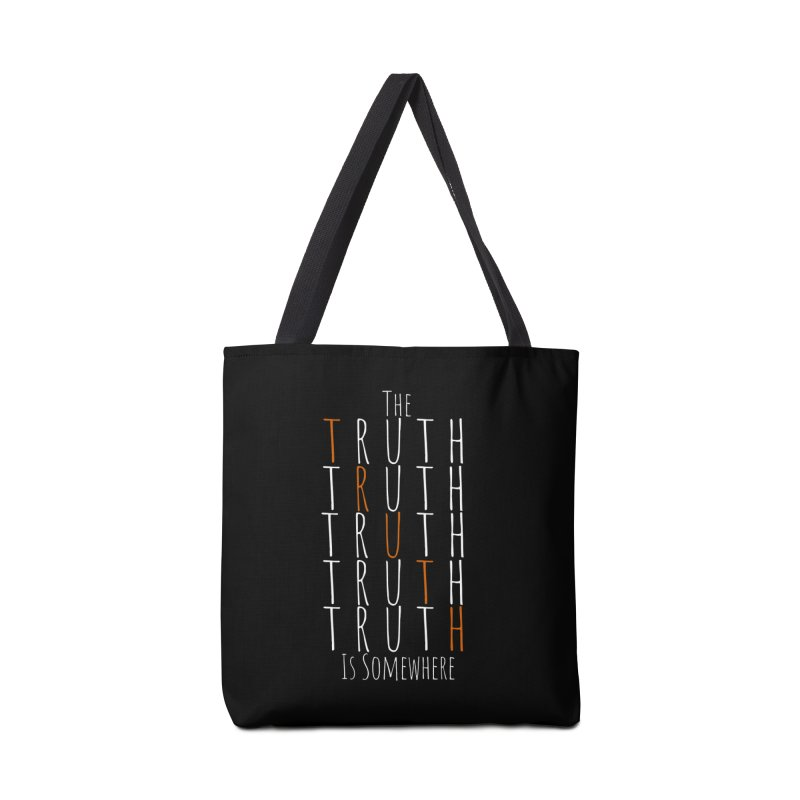 The Truth (Dark Background) Accessories Bag by The Truth Is Somewhere