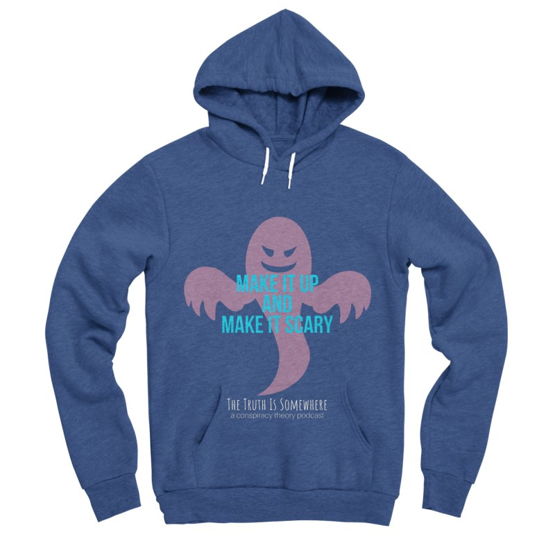 Based on a True Story (Dark BG) Men's Sponge Fleece Pullover Hoody by The Truth Is Somewhere