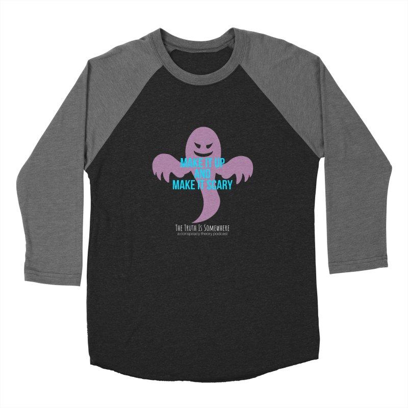 Based on a True Story (Dark BG) Men's Baseball Triblend Longsleeve T-Shirt by The Truth Is Somewhere