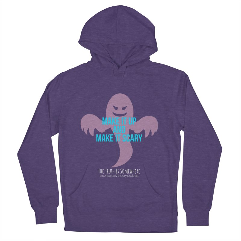 Based on a True Story (Dark BG) Men's French Terry Pullover Hoody by The Truth Is Somewhere