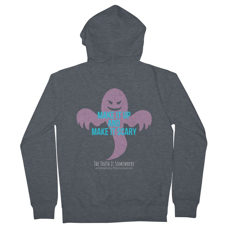 Based on a True Story (Dark BG) Women's French Terry Zip-Up Hoody by The Truth Is Somewhere
