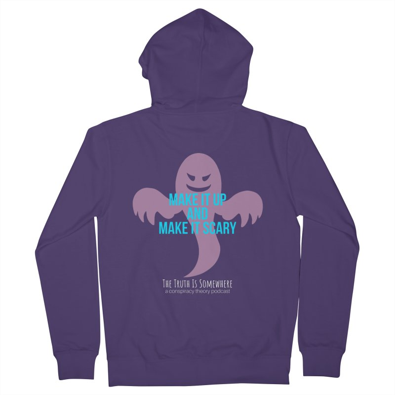 Based on a True Story (Dark BG) Women's Zip-Up Hoody by The Truth Is Somewhere