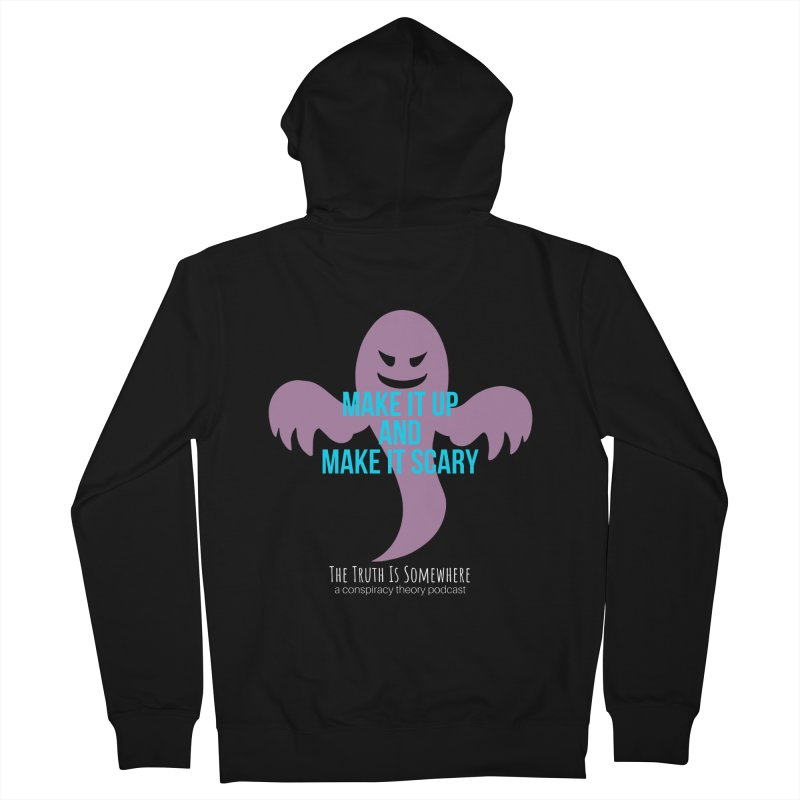 Based on a True Story (Dark BG) Men's Zip-Up Hoody by The Truth Is Somewhere