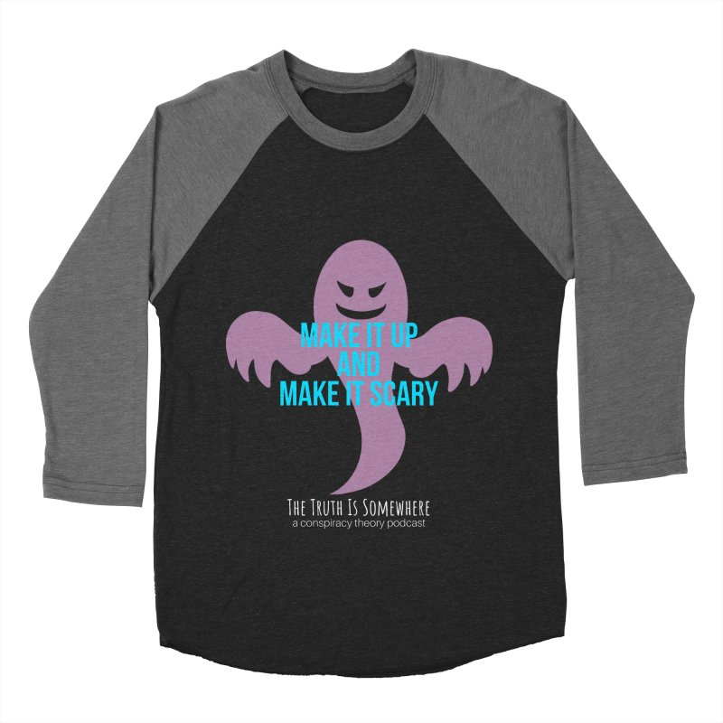 Based on a True Story (Dark BG) Men's Baseball Triblend Longsleeve T-Shirt by The Truth Is Somewhere