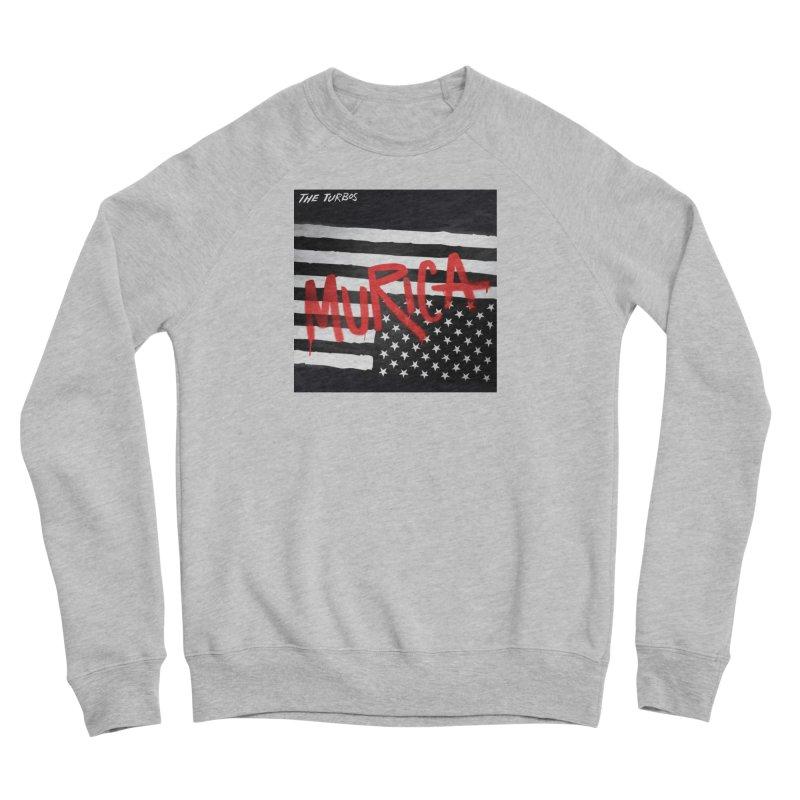 'Murica Men's Sponge Fleece Sweatshirt by The Turbos Merch Stand