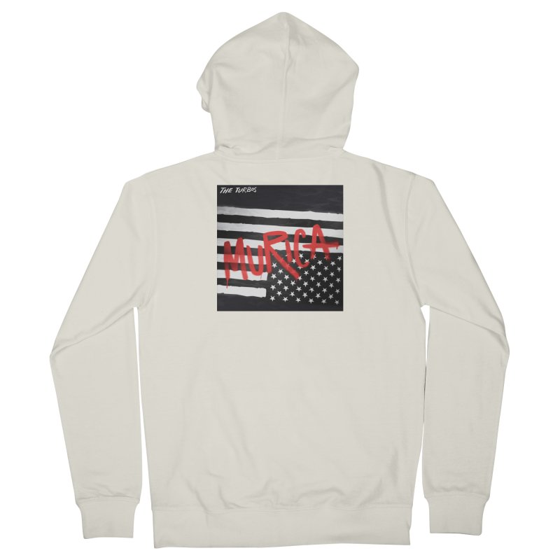 'Murica Women's French Terry Zip-Up Hoody by The Turbos Merch Stand