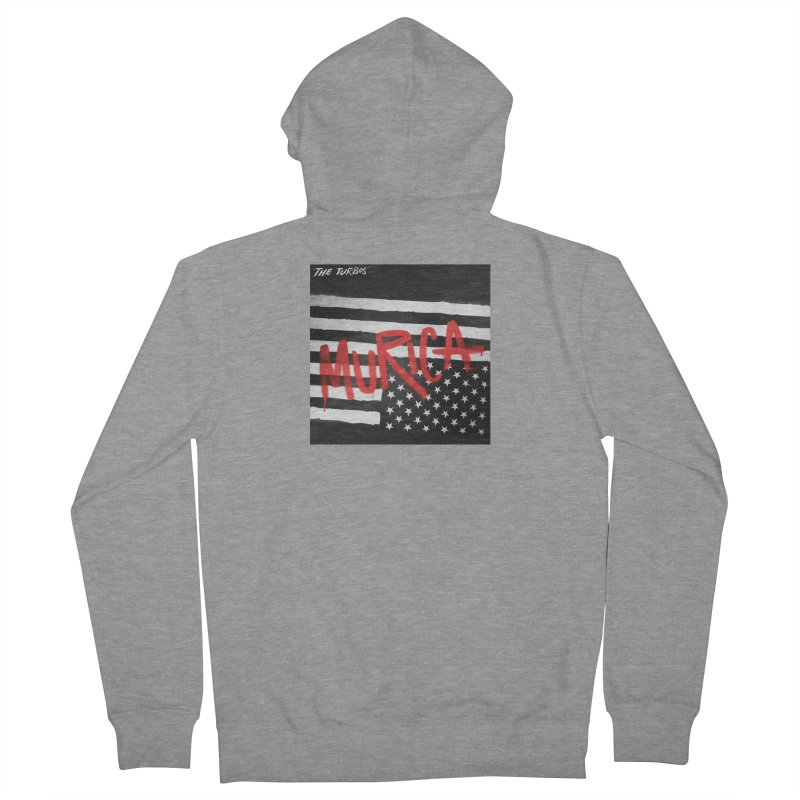 'Murica Men's French Terry Zip-Up Hoody by The Turbos Merch Stand
