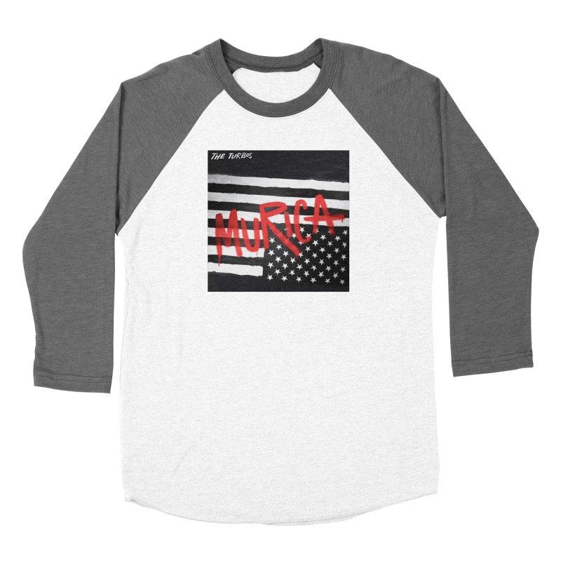 'Murica Women's Baseball Triblend Longsleeve T-Shirt by The Turbos Merch Stand