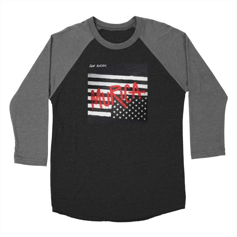 'Murica Men's Baseball Triblend Longsleeve T-Shirt by The Turbos Merch Stand