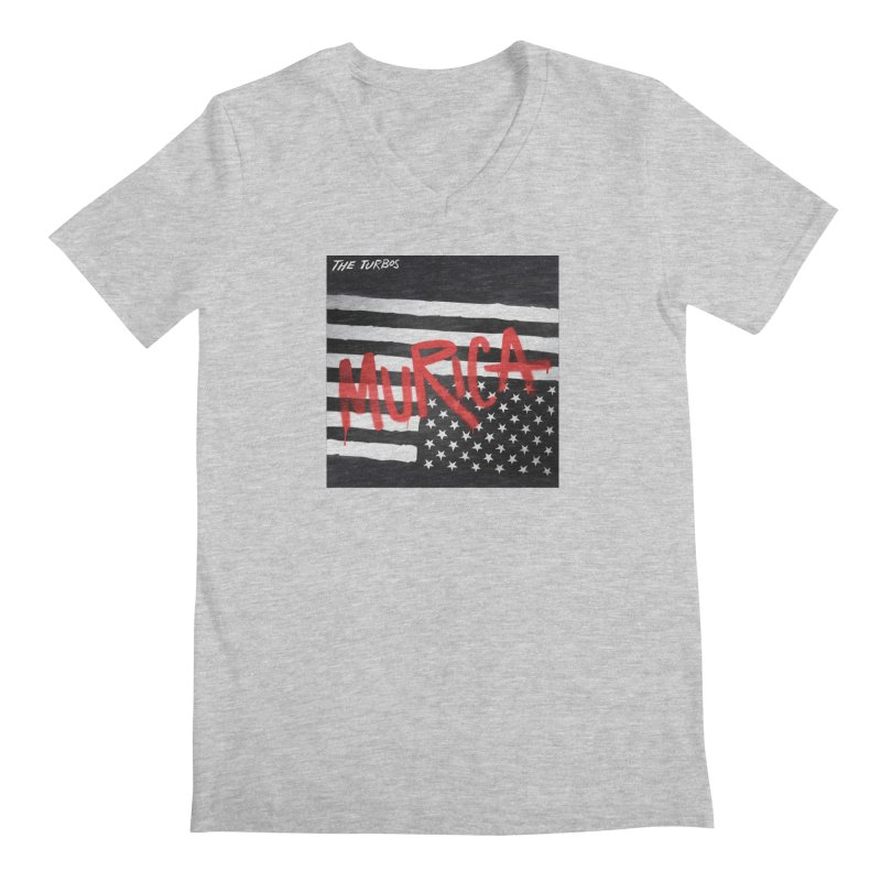 'Murica Men's Regular V-Neck by The Turbos Merch Stand
