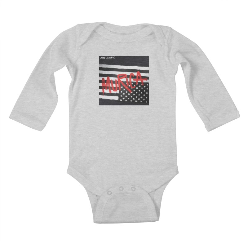 'Murica Kids Baby Longsleeve Bodysuit by The Turbos Merch Stand