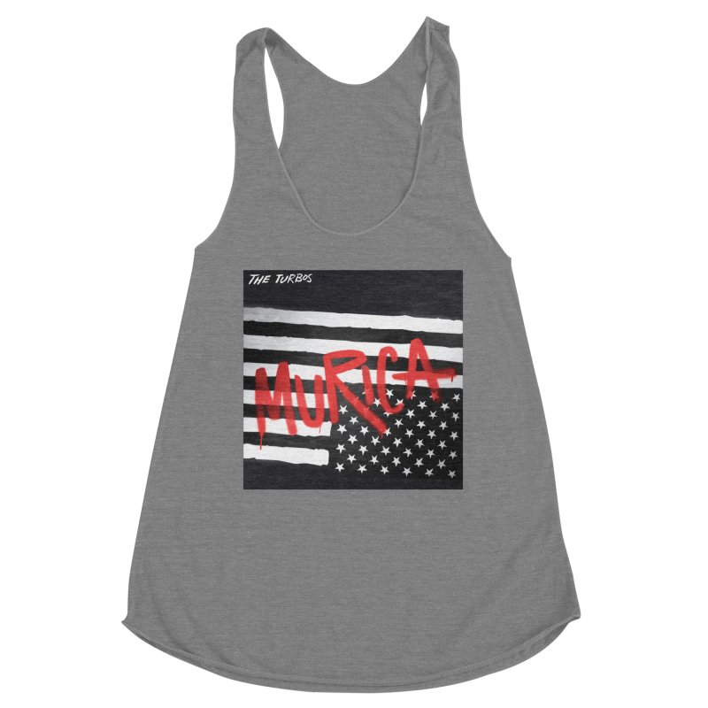 'Murica Women's Racerback Triblend Tank by The Turbos Merch Stand