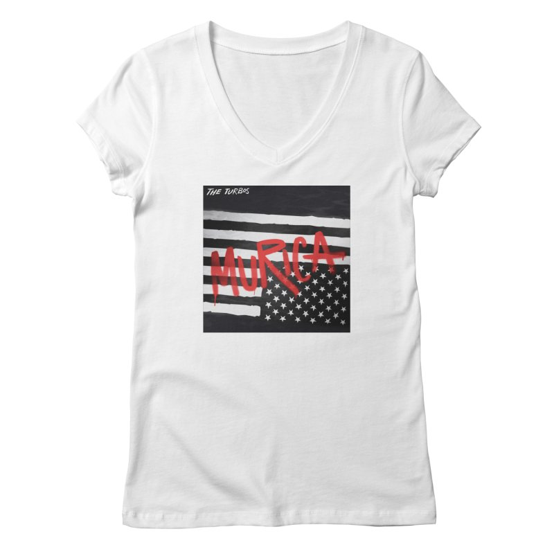 'Murica Women's Regular V-Neck by The Turbos Merch Stand
