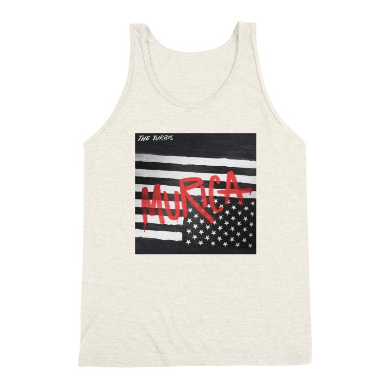 'Murica Men's Triblend Tank by The Turbos Merch Stand