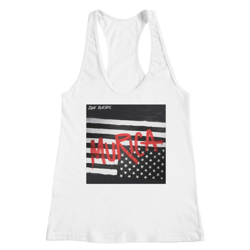 'Murica Women's Racerback Tank by The Turbos Merch Stand