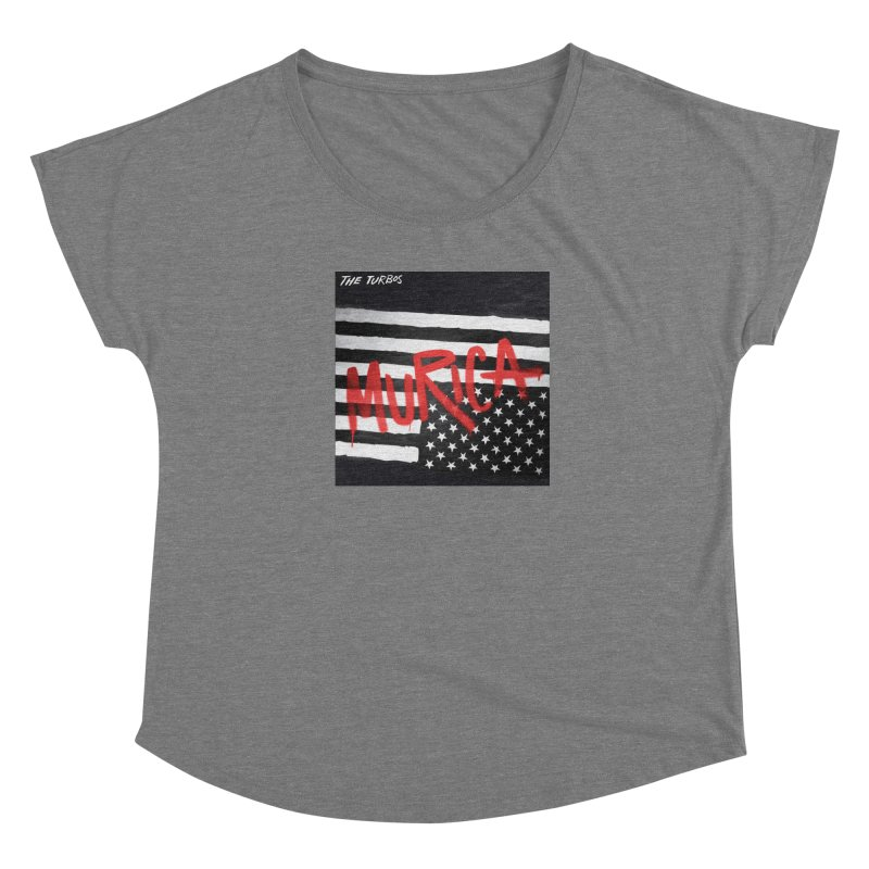 'Murica Women's Scoop Neck by The Turbos Merch Stand