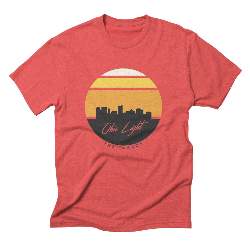 Ohio Light in Men's Triblend T-Shirt Chili Red by The Turbos Merch Stand