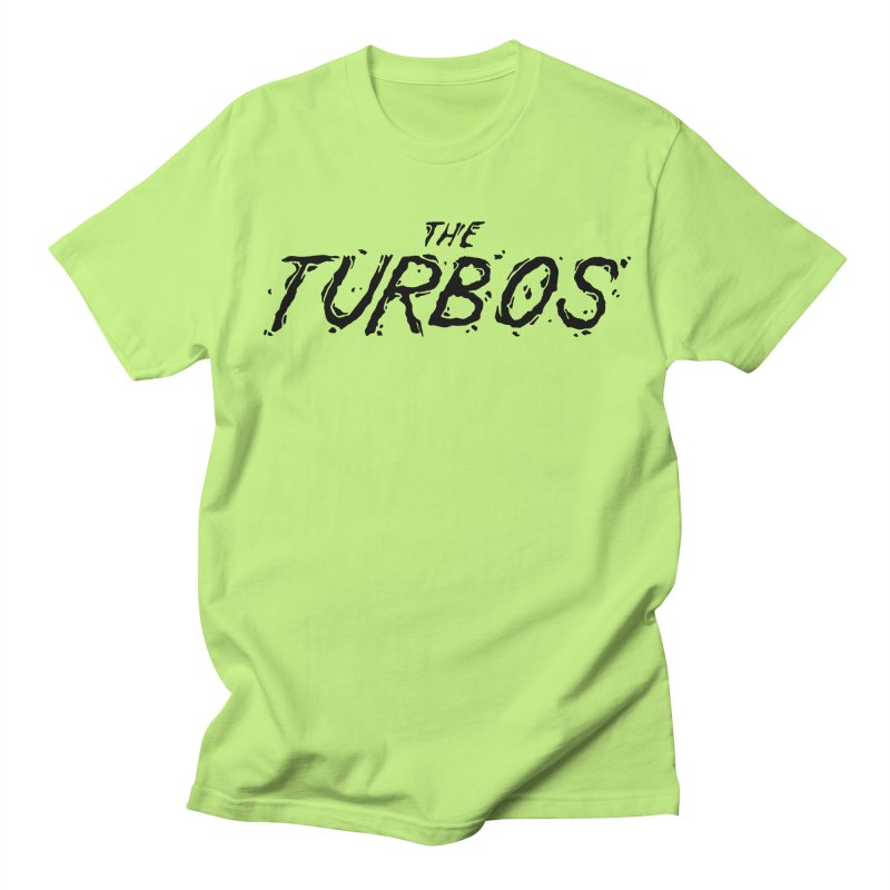 Black Splat Script Men's Regular T-Shirt by The Turbos Merch Stand
