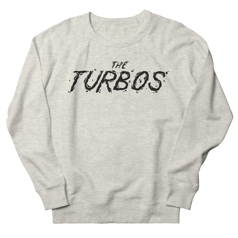 Black Splat Script Women's French Terry Sweatshirt by The Turbos Merch Stand