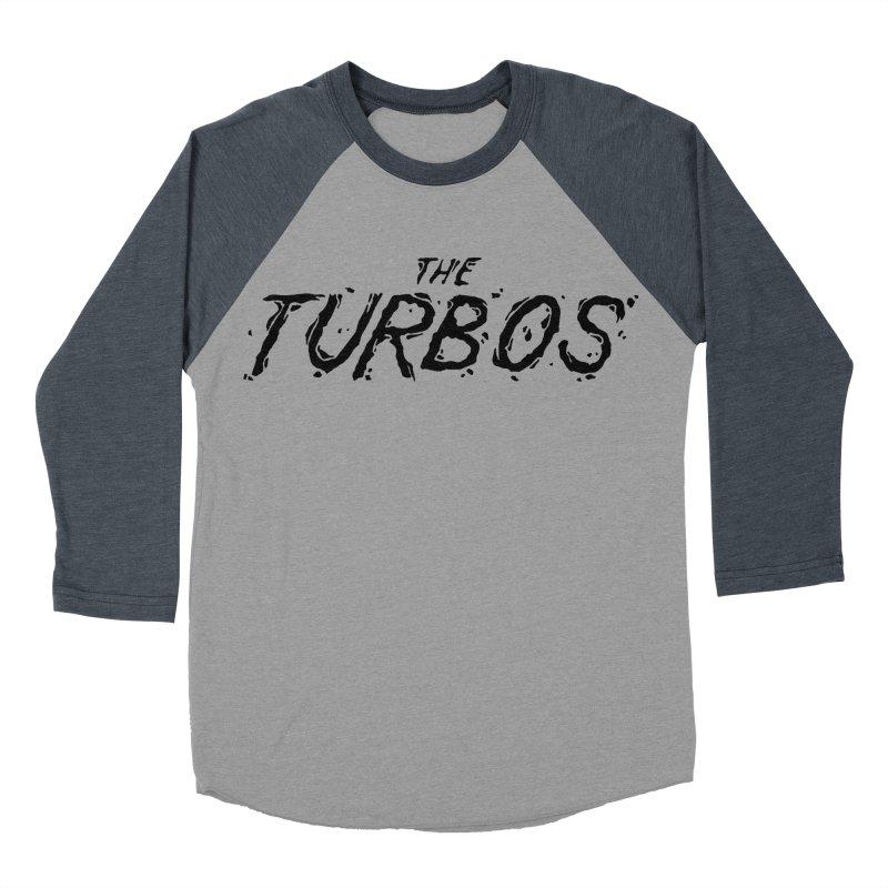 Black Splat Script Women's Baseball Triblend Longsleeve T-Shirt by The Turbos Merch Stand