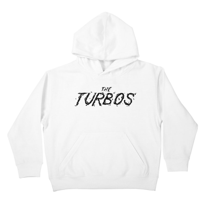 Black Splat Script Kids Pullover Hoody by The Turbos Merch Stand