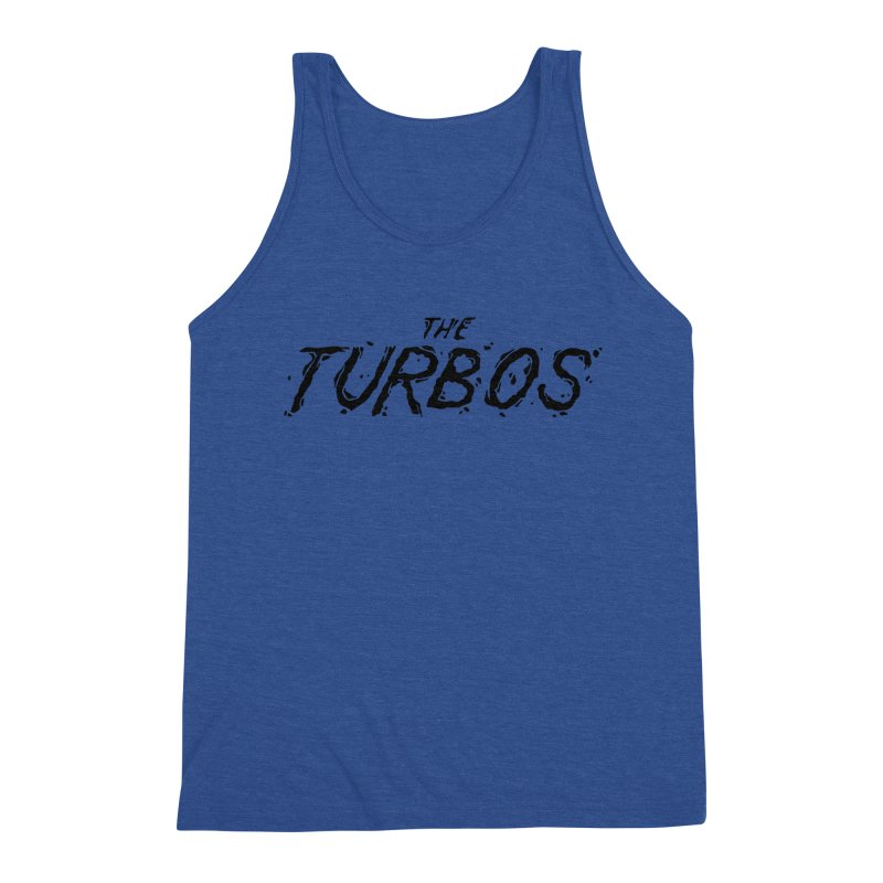 Black Splat Script Men's Triblend Tank by The Turbos Merch Stand