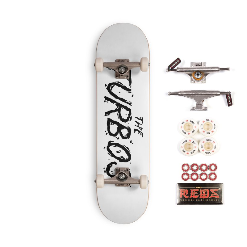 Black Splat Script Accessories Complete - Pro Skateboard by The Turbos Merch Stand