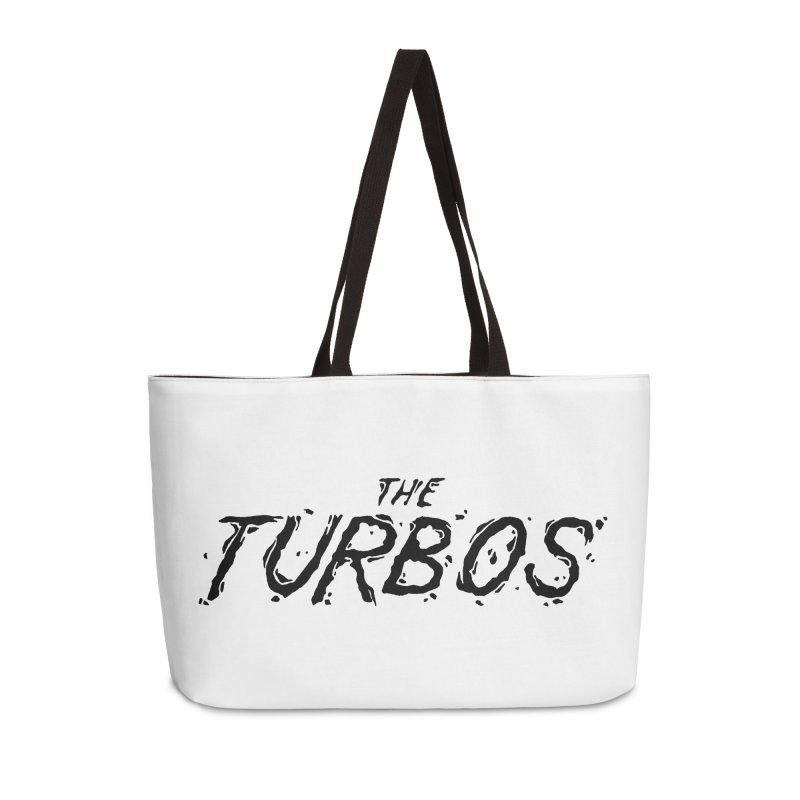 Black Splat Script Accessories Weekender Bag Bag by The Turbos Merch Stand