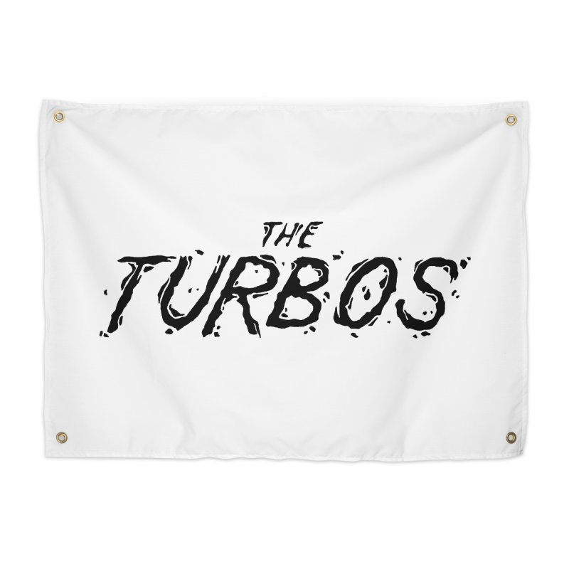 Black Splat Script Home Tapestry by The Turbos Merch Stand