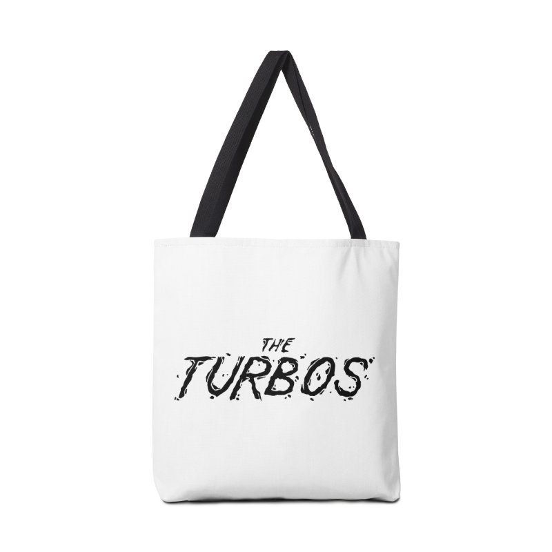 Black Splat Script Accessories Tote Bag Bag by The Turbos Merch Stand