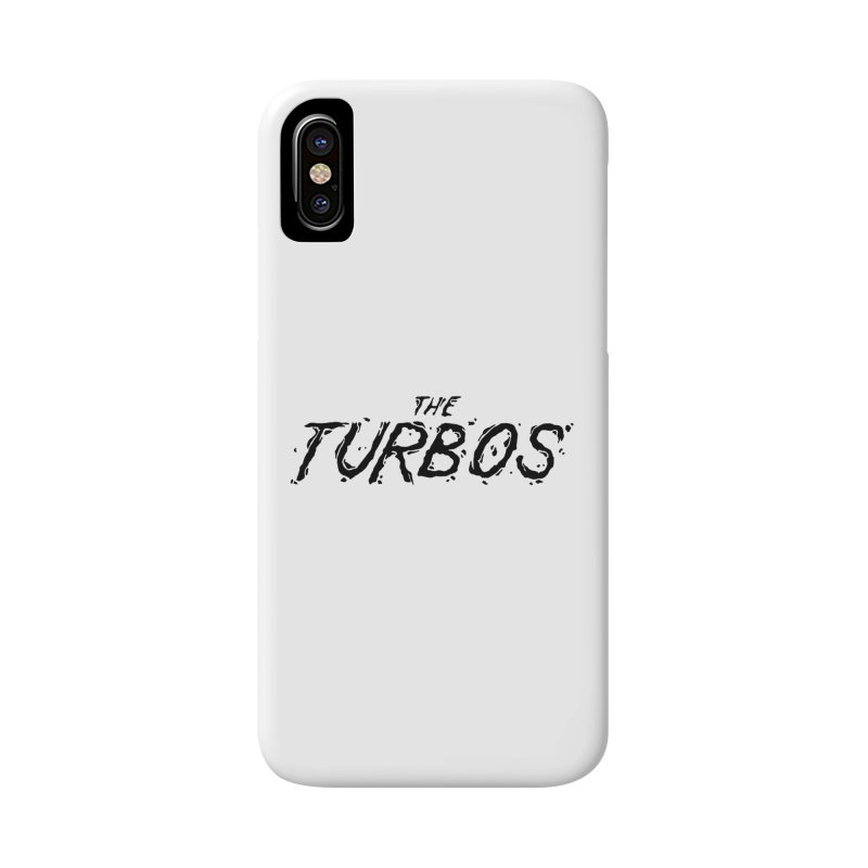 Black Splat Script Accessories Phone Case by The Turbos Merch Stand