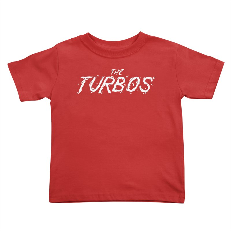 White Splat Script Kids Toddler T-Shirt by The Turbos Merch Stand
