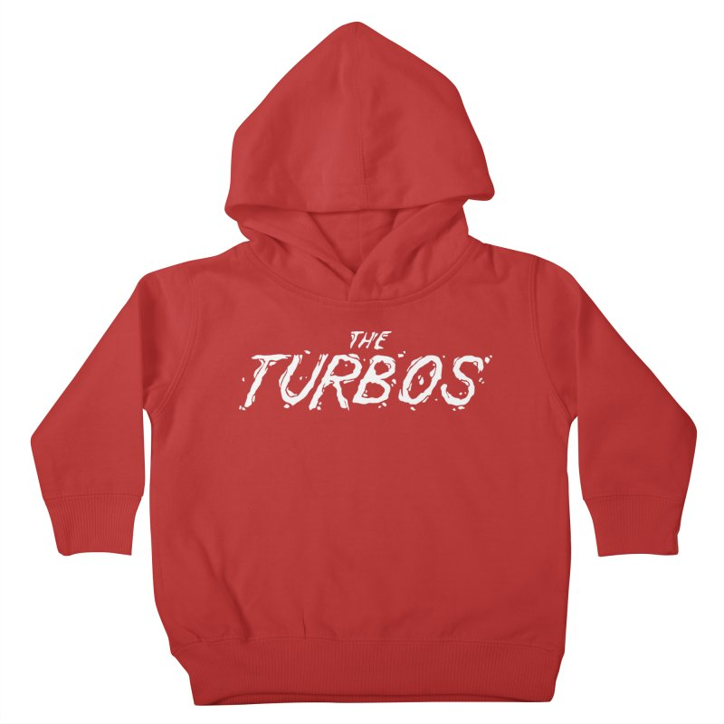 White Splat Script Kids Toddler Pullover Hoody by The Turbos Merch Stand