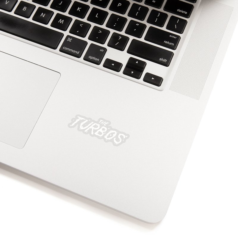 White Splat Script Accessories Sticker by The Turbos Merch Stand