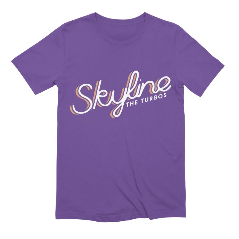 Skyline in Men's Extra Soft T-Shirt Purple by The Turbos Merch Stand
