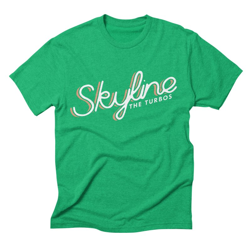 Skyline Men's Triblend T-Shirt by The Turbos Merch Stand