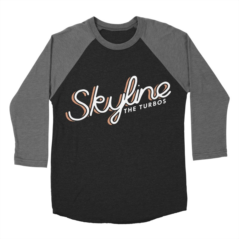 Skyline Men's Baseball Triblend Longsleeve T-Shirt by The Turbos Merch Stand