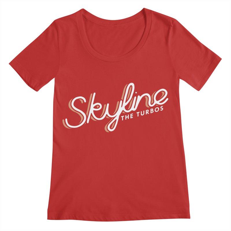 Skyline Women's Regular Scoop Neck by The Turbos Merch Stand