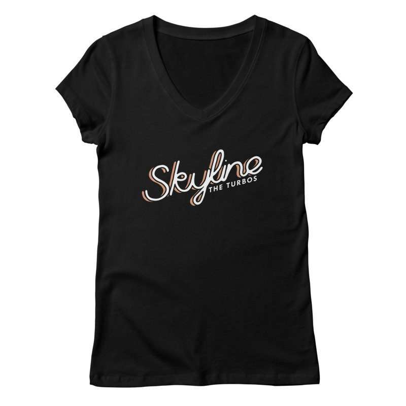 Skyline Women's V-Neck by The Turbos Merch Stand
