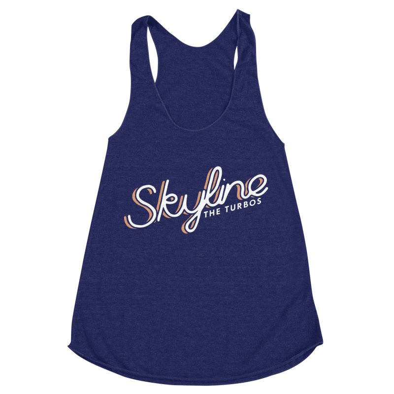 Skyline Women's Racerback Triblend Tank by The Turbos Merch Stand